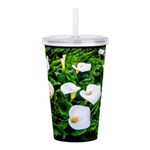Field of Calla Lily Flowers Acrylic Double-wall Tu
