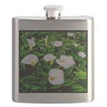 Field of Calla Lily Flowers Flask