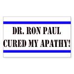 Ron Paul cure-1 Rectangle Sticker