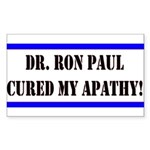 Ron Paul cure-1 Rectangle Sticker 10 pk)