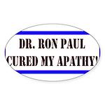 Ron Paul cure-1 Oval Sticker