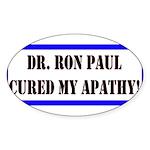 Ron Paul cure-1 Oval Sticker (50 pk)