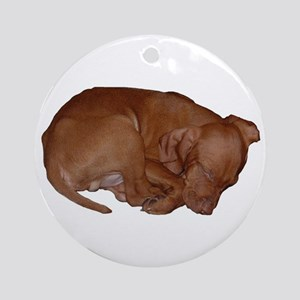 Vizlsa Sleeping Puppy Keepsake (Round)
