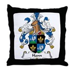 Hann Family Crest Throw Pillow