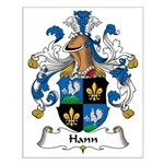 Hann Family Crest Small Poster