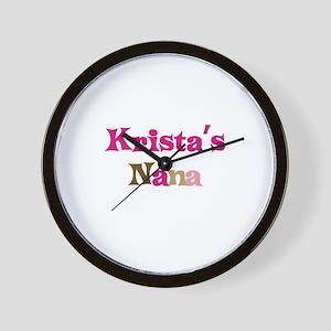 Krista's Nana Wall Clock
