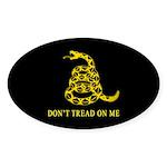 Don't Tread on Me Oval Sticker (50 pk)