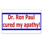 Ron Paul cure-4 Rectangle Sticker