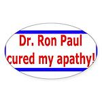 Ron Paul cure-4 Oval Sticker (50 pk)