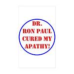 Ron Paul cure-2 Rectangle Sticker 10 pk)