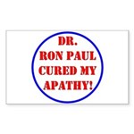 Ron Paul cure-2 Rectangle Sticker