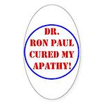 Ron Paul cure-2 Oval Sticker (50 pk)