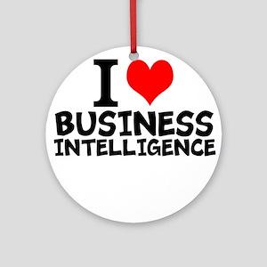 I Love Business Intelligence Round Ornament