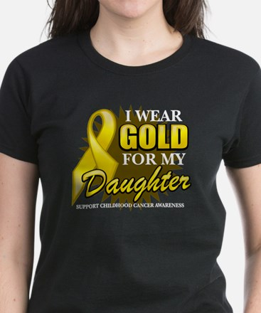Gold For My Daughter 2 Women's Dark T-Shirt