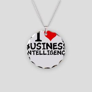I Love Business Intelligence Necklace