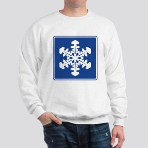Winter Recreation Area Sign Sweatshirt
