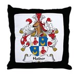 Haider Family Crest Throw Pillow