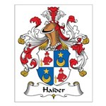 Haider Family Crest Small Poster