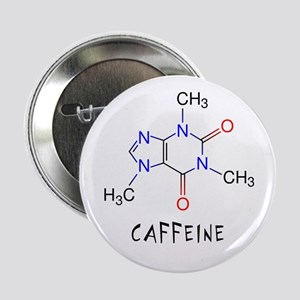 "Caffeine molecule 2.25"" Button"