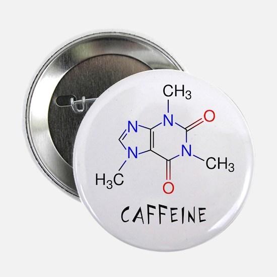 """Caffeine molecule 2.25"""" Button"""