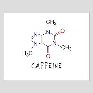 Caffeine molecule Small Poster