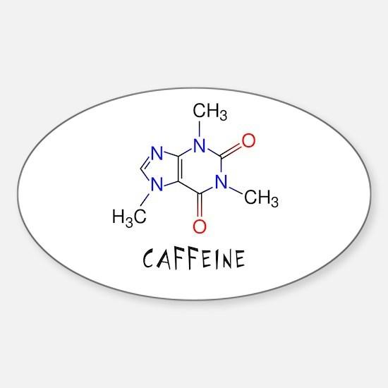 Caffeine molecule Oval Decal