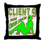 Client 9 From Outer Space Throw Pillow