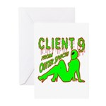 Client 9 From Outer Space Greeting Cards (Pk of 10