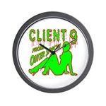 Client 9 From Outer Space Wall Clock