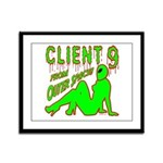 Client 9 From Outer Space Framed Panel Print