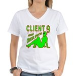 Client 9 From Outer Space Women's V-Neck T-Shirt