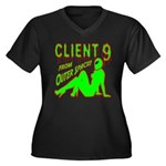 Client 9 From Outer Space Women's Plus Size V-Neck
