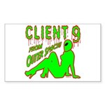 Client 9 From Outer Space Rectangle Sticker 50 pk
