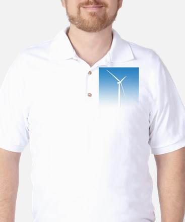 Turbine Wind Power Energy Golf Shirt