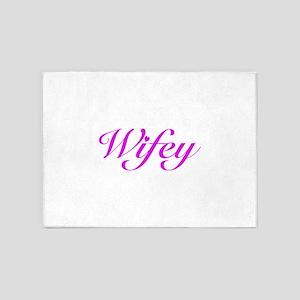 Wifey 5'x7'Area Rug