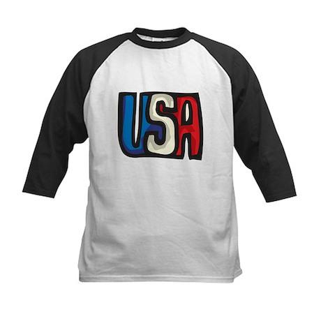 USA big letters Kids Baseball Jersey