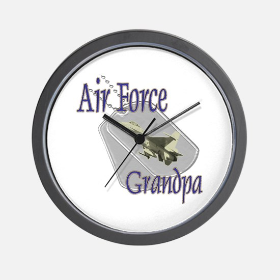 Jet Air Force Grandpa Wall Clock