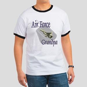 Jet Air Force Grandpa Ringer T
