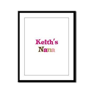 Keith's Nana Framed Panel Print