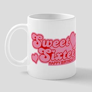 Sweet Sixteen Birthday Retro Mug