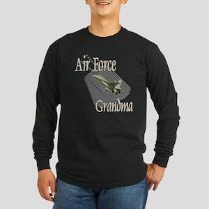 Jet Air Force Grandma Long Sleeve Dark T-Shirt