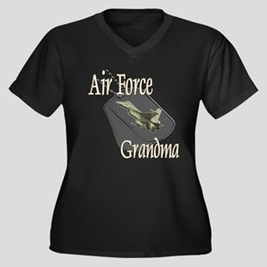 Jet Air Force Grandma Women's Plus Size V-Neck Dar