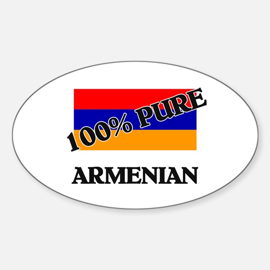 100 Percent ARMENIAN Oval Decal