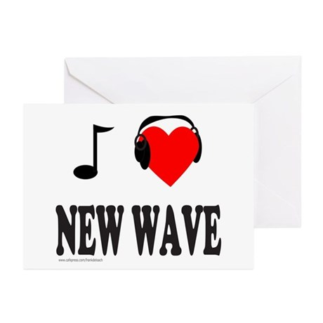 NEW WAVE MUSIC Greeting Cards (Pk of 10)