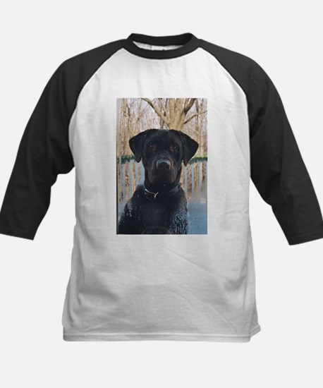Chocolate Labrador Kids Baseball Jersey