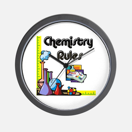 Chemistry rules Wall Clock