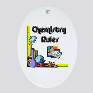 Chemistry rules Oval Ornament
