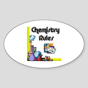 Chemistry rules Oval Sticker