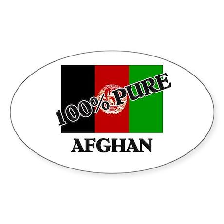 100 Percent AFGHAN Oval Sticker