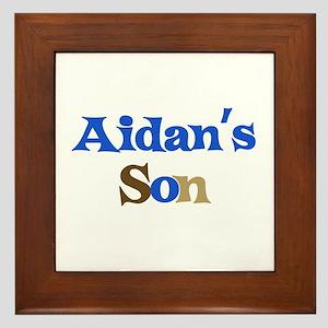Aidan's Son Framed Tile